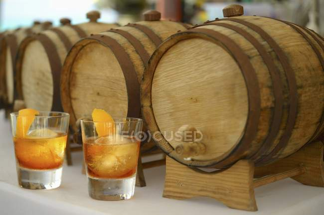 Old Fashioned cocktails — Stock Photo