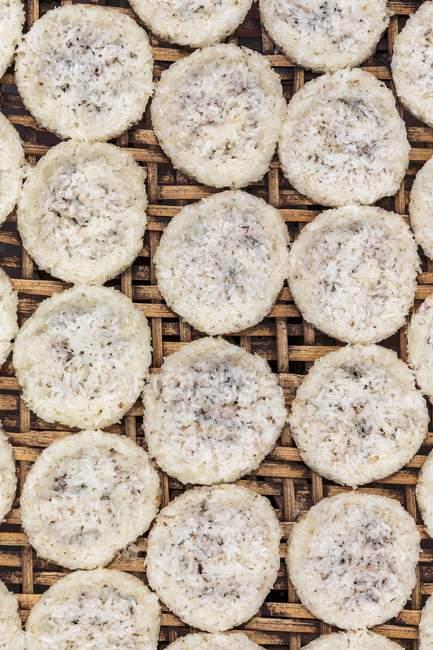 Reiskuchen In Sonne Liegen Köstliche Ernährung Stock Photo