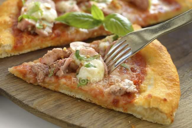 Chicken tandoori pizza — Stock Photo