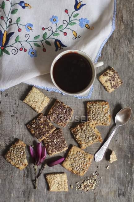 Kekse mit Leinsamen — Stockfoto