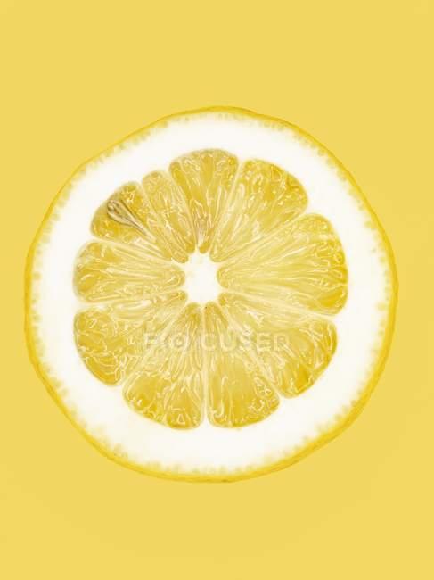 Scheibe frische Zitrone — Stockfoto
