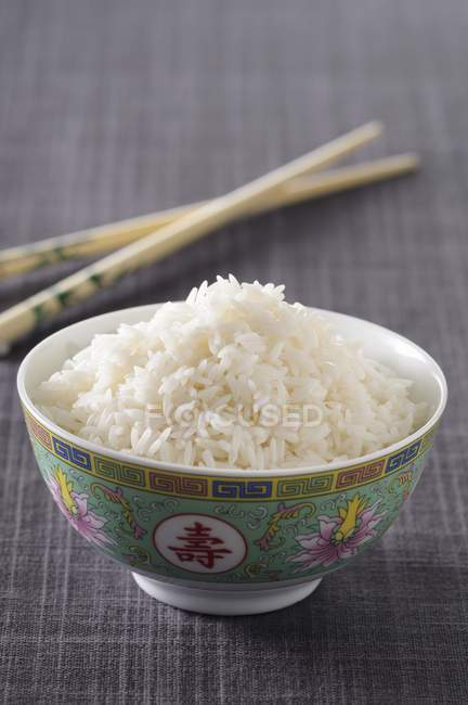 Cooked white rice — Stock Photo