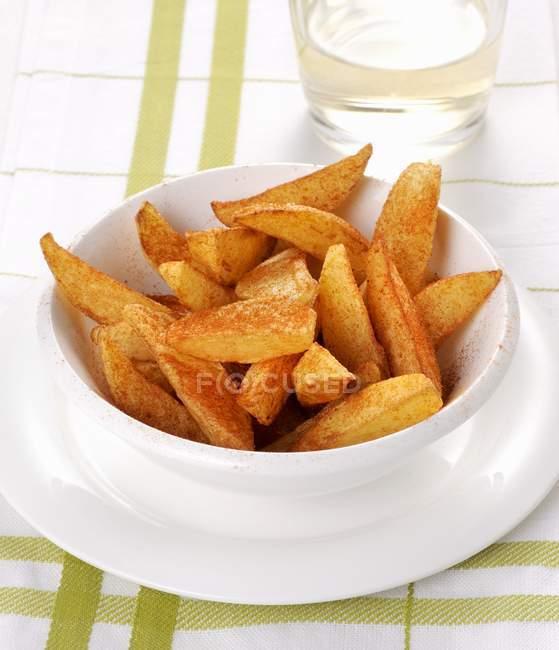 Жареный красный перец картофель — стоковое фото