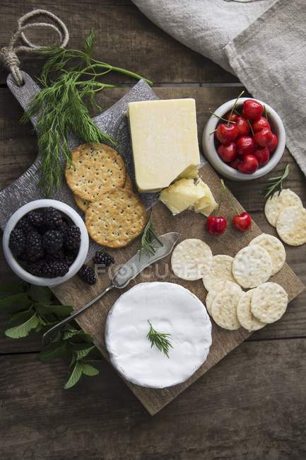 Cheese platter with sesame — Stock Photo