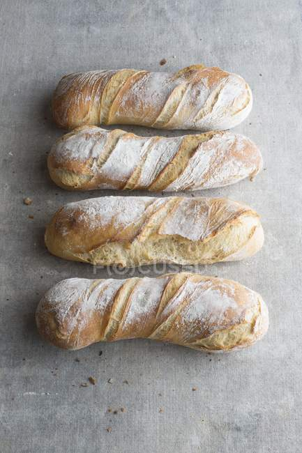 Spiral-shaped loaves of bread — Stock Photo