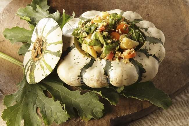Тыква с овощами — Stock Photo