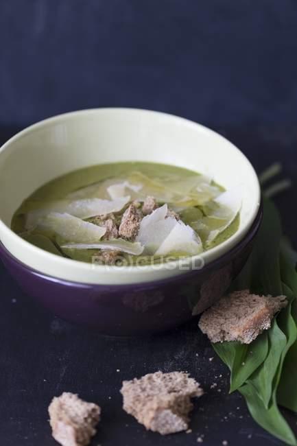 Sopa de alho selvagem — Fotografia de Stock