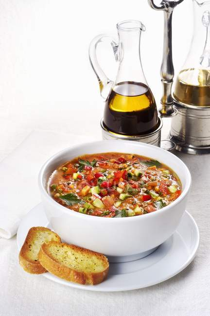 Chilled Sicilian minestrone — Stock Photo
