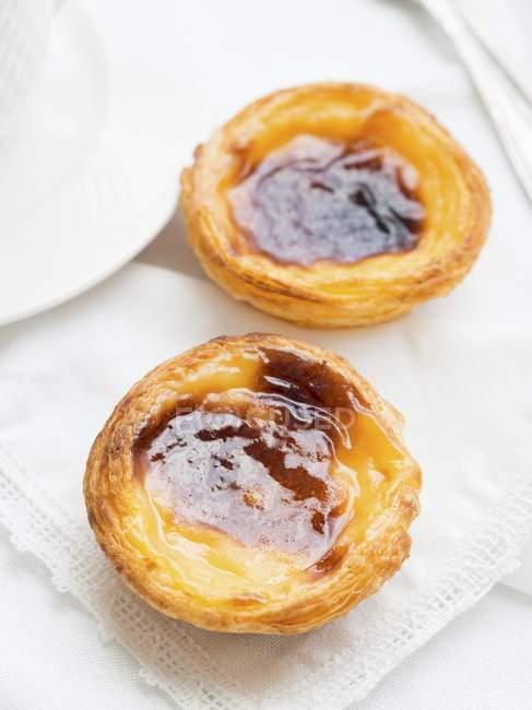 Tartas de crema portuguesa - foto de stock