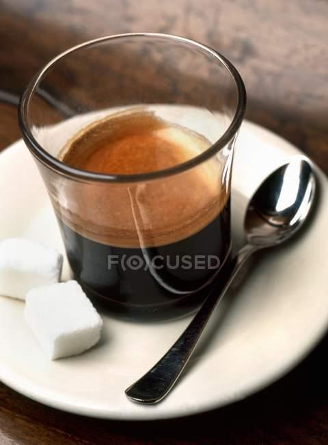 Cafe Carajillo Cortado — стокове фото
