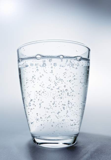 Glass of mineral water — Stock Photo