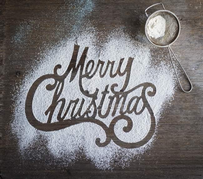 Immagini Con Scritte Di Buon Natale.Vista Superiore Del Buon Natale Parole Scritte Zucchero A