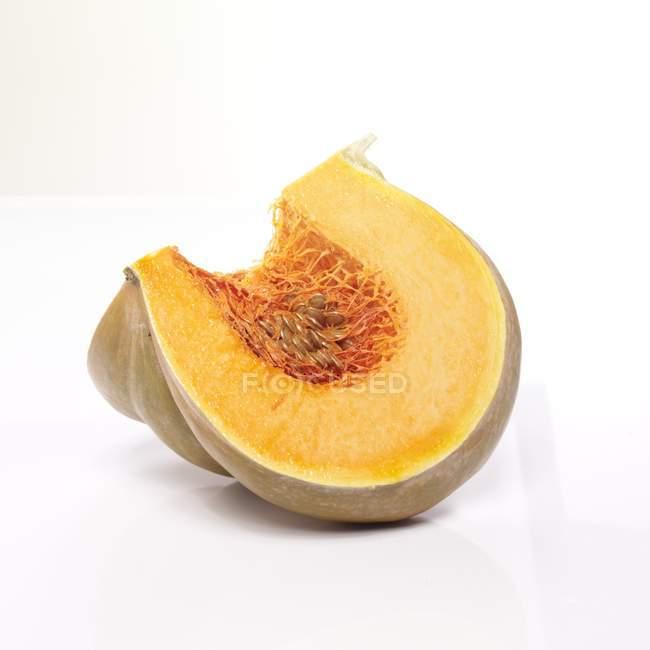 Uarter of Muscat pumpkin — Stock Photo