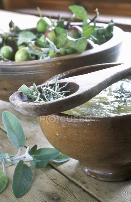 Яблочный компот Бучина — стоковое фото