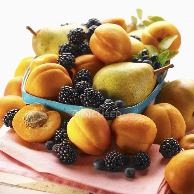 Basket of summer fruits — Stock Photo