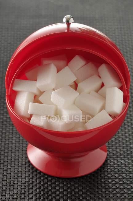 Pote de açúcar vermelho — Fotografia de Stock