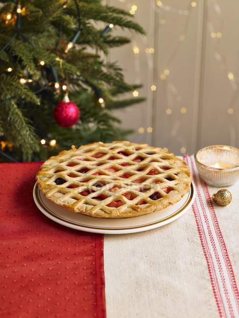 Orange e Cranberry Pie della grata — Foto stock