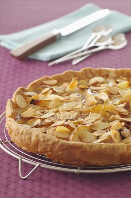 Al horno tarta de pera Bourdaloue - foto de stock