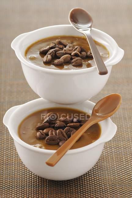 Sobremesas de creme de café — Fotografia de Stock