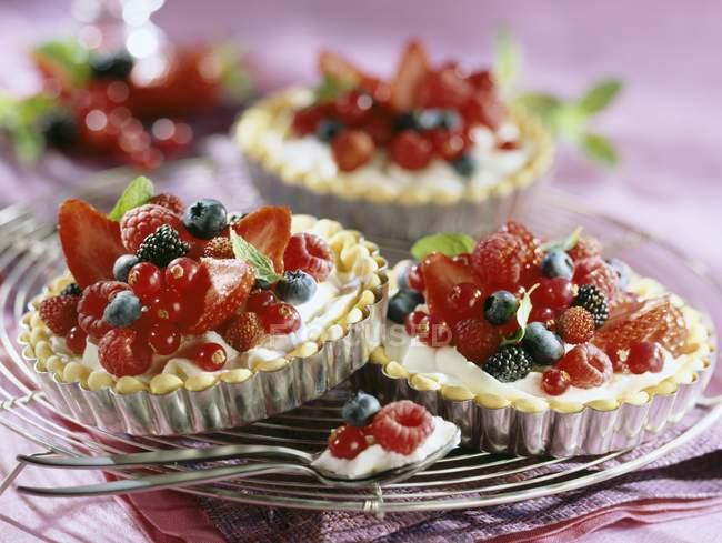 Tartaletas de frutas de verano - foto de stock