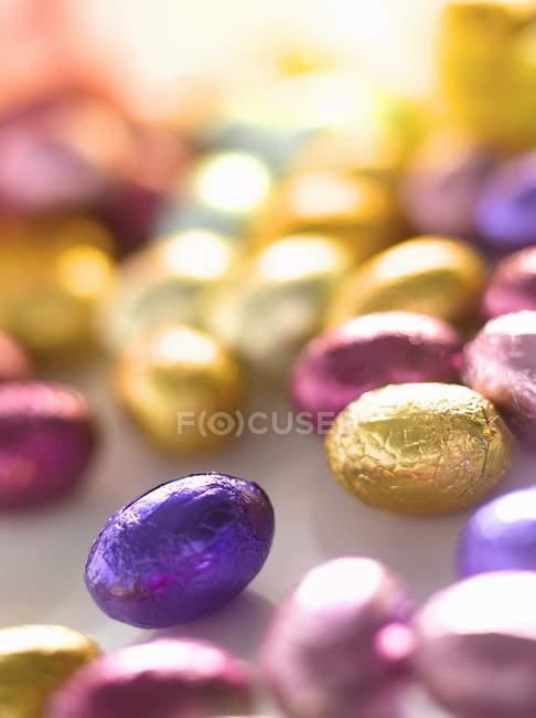 Schokoladen-ostereier — Stockfoto