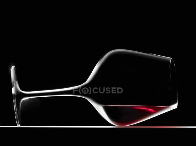 Glas rotwein — Stockfoto