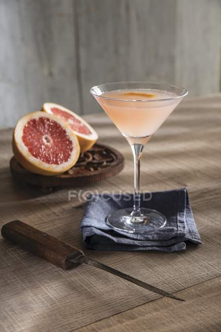 Champagne cocktail in glass — Stock Photo