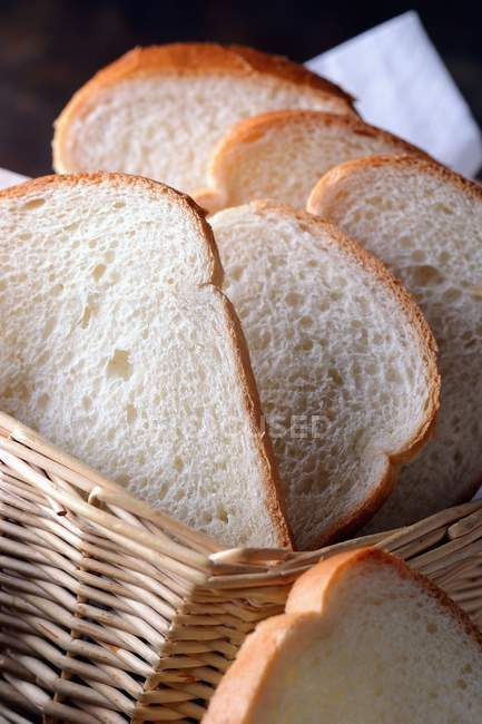 Slices of sandwich bread — Stock Photo