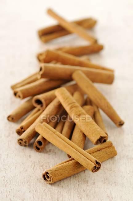 Cinnamon sticks on light background — Stock Photo