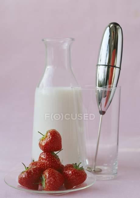 Frullato di fragole — Foto stock