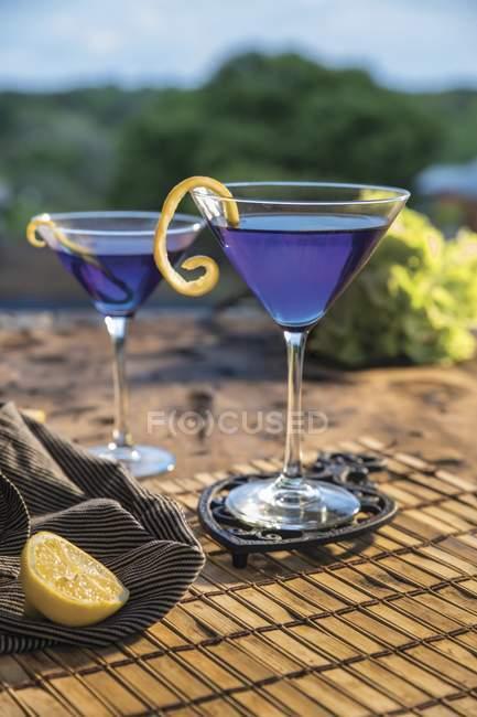 Zitrus blau cocktail — Stockfoto