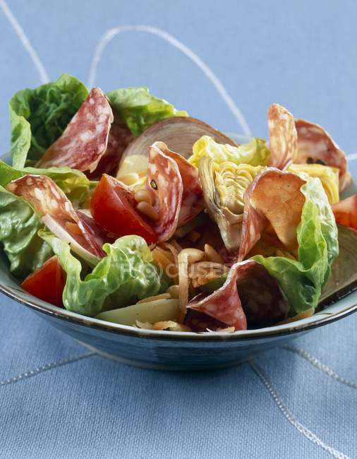 Cooked meats salad — Stock Photo