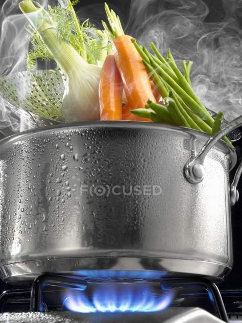 Овощи для приготовления пара — стоковое фото