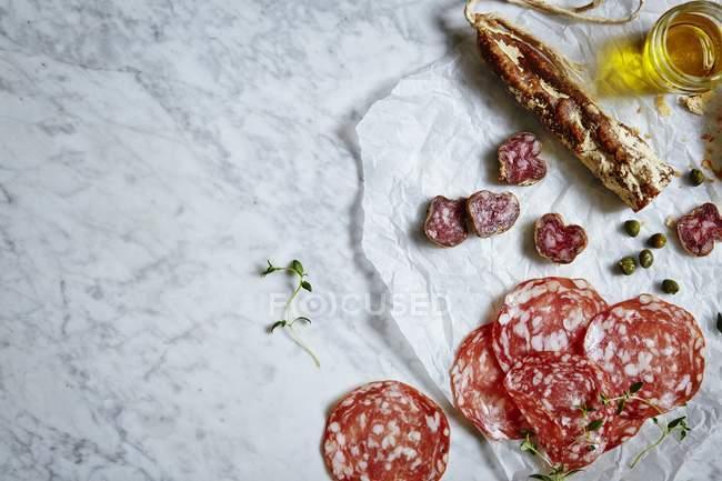 Salumi e carni pregiate — Foto stock
