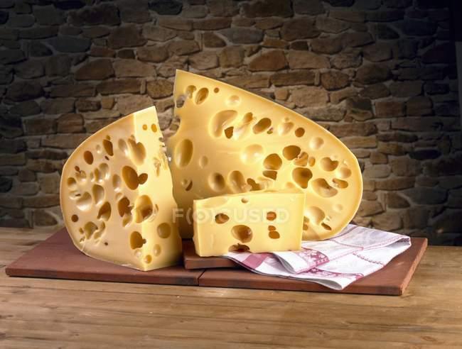Gruyre cheese sliced — Stock Photo