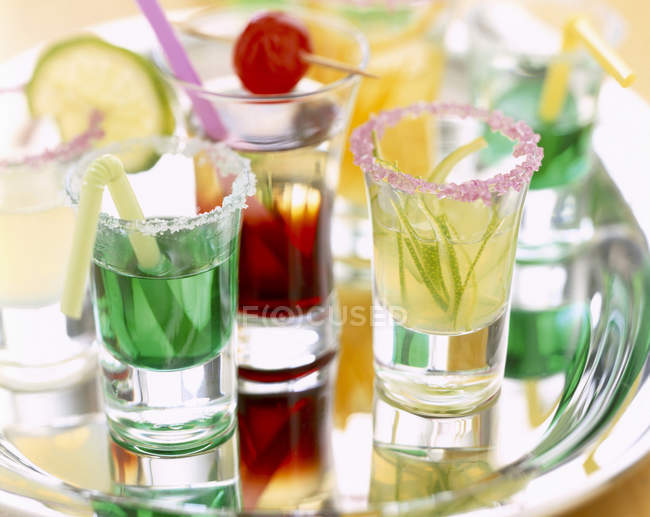 Various cocktails in glasses — Stock Photo