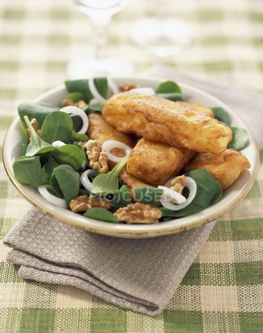 Maroilles fritters on plate — Stock Photo