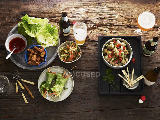 Various starters salad — Stock Photo