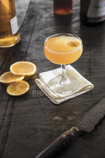 Champagner-cocktail im Glas — Stockfoto