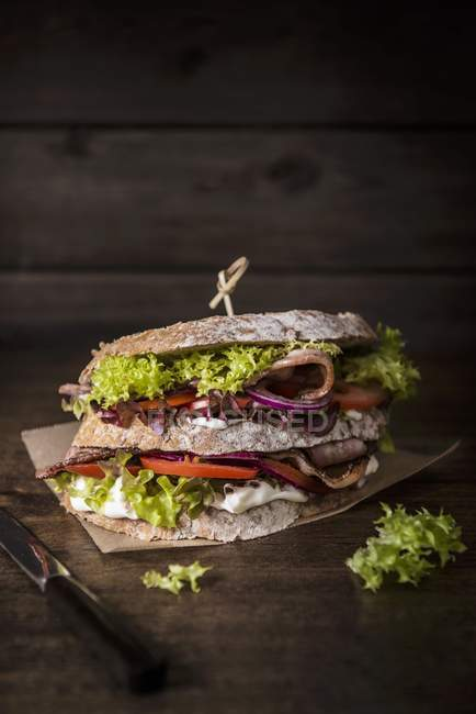 Double-decker sandwich — Stock Photo