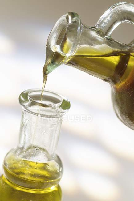 Bottle with olive oil — Stock Photo