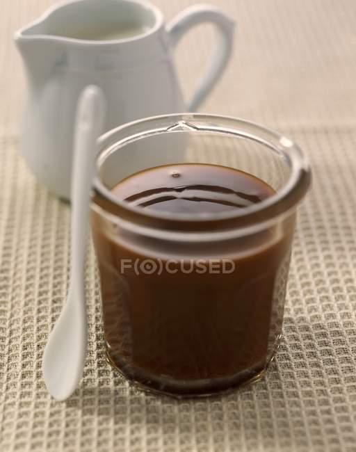 Milk jam in glass — Stock Photo
