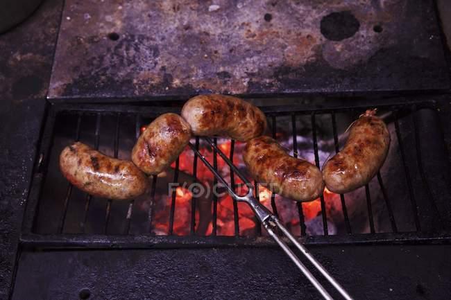 Wurst-Grill-Gabel — Stockfoto