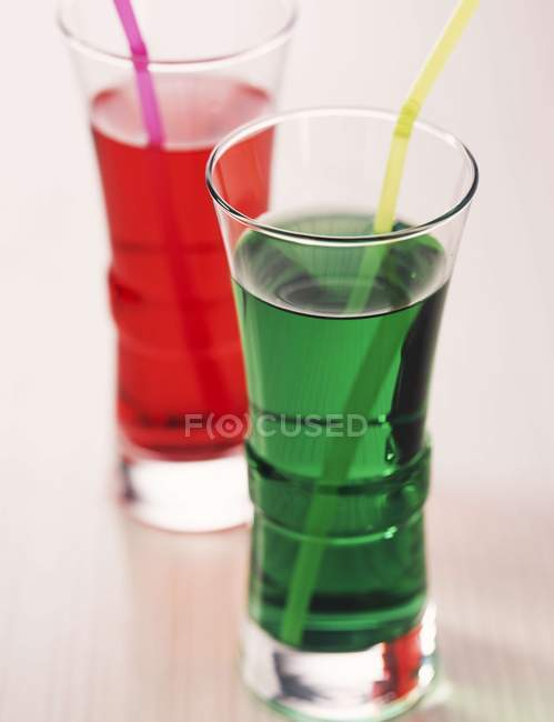 Cordial drinks in small glasses — Stock Photo