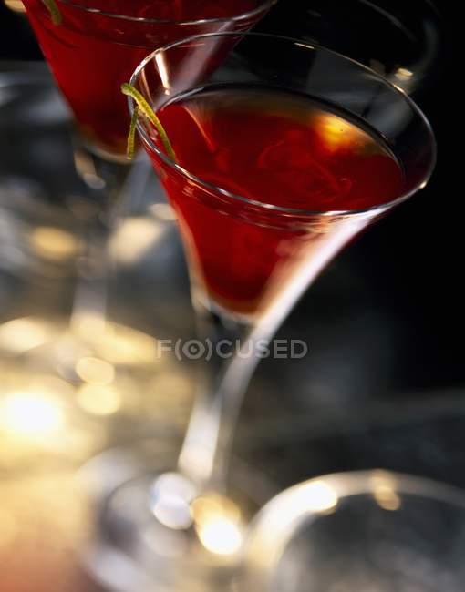 Brandy cocktail in Gläser — Stockfoto