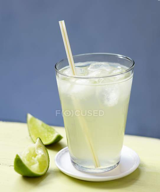Refreshing Lime cordial — Stock Photo