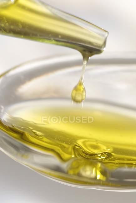 Vue de la goutte d'huile — Photo de stock