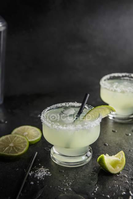 Margarita cocktail mit Kalk — Stockfoto