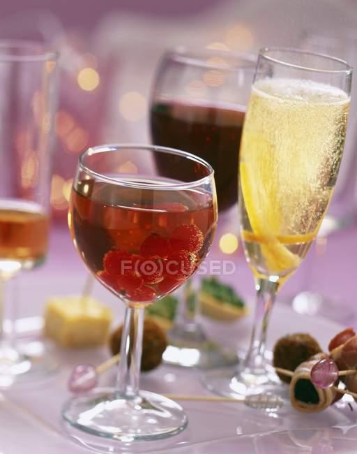 Assorted aperitif cocktails — Stock Photo