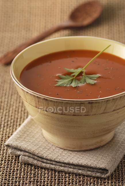 Creme von Tomatensuppe — Stockfoto
